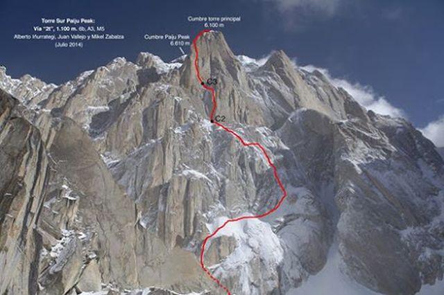 Испанский маршрут на вершину Пайджу Пик (Paiju Peak) по Южной стене