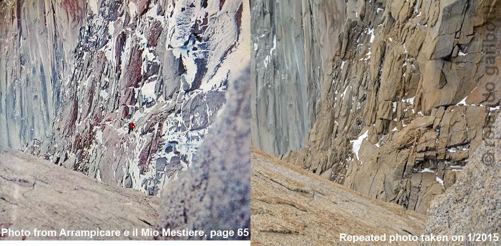 Сравнение фотографии 1959 года и современной фотографии.