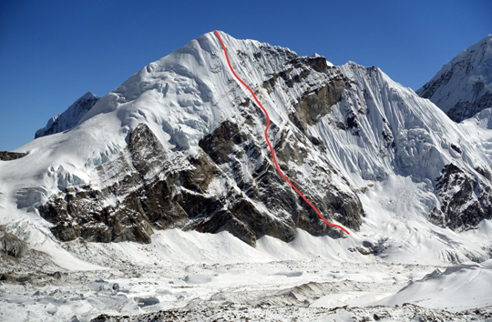 новый маршрут на Западной стене горы Пачермо (Pachermo, 6,275 м)