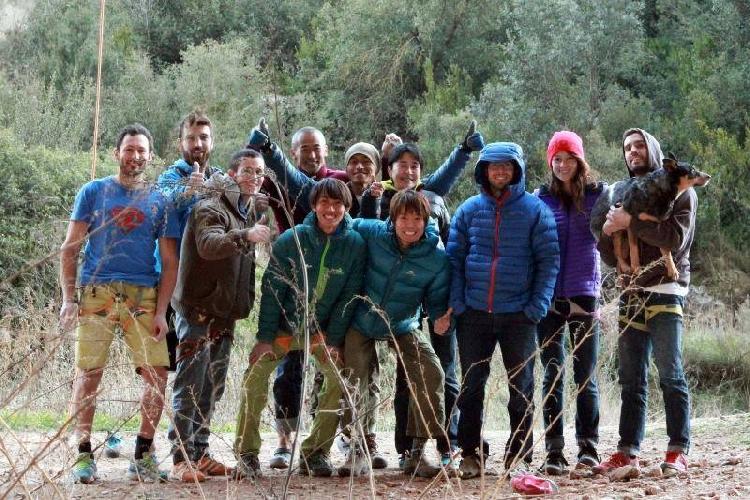 Сачи Амма (Sachi Amma) с друзьями в Испании