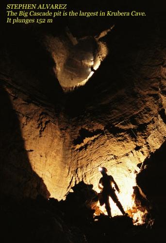 СТИВЕН АЛЬВАРЕС. Большой Каскад - глубочайший колодец в Крубера-Вороньей - 152м