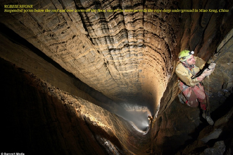 РОББИ ШОН. 300 метров от верха колодца и 200м до дна