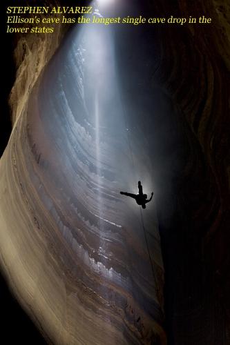 СТИВЕН АЛЬВАРЕС. Фантастический колодец (Fantastic Pit), самый глубокий вертикальный колодец свободного падения в США