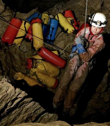 """пещера Крубера-Воронья. Проект """"Зов Бездны"""" 2012"""