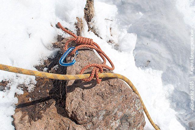 Обведите вокруг верёвки
