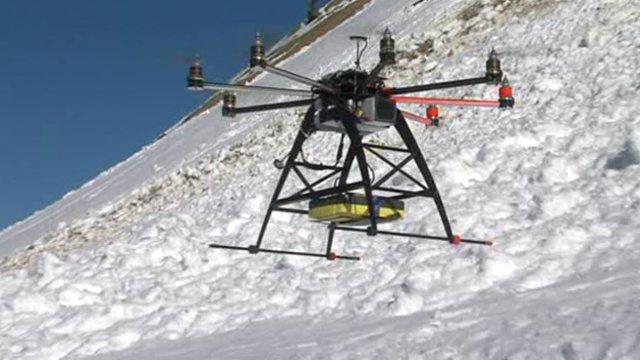 дрон (беспилотный летательный аппарат / БПЛА), предназначенный для поиска попавших под лавину людей