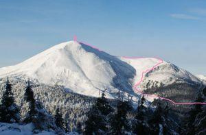 Восхождение на Петрос зимой по маршруту сложности 2А