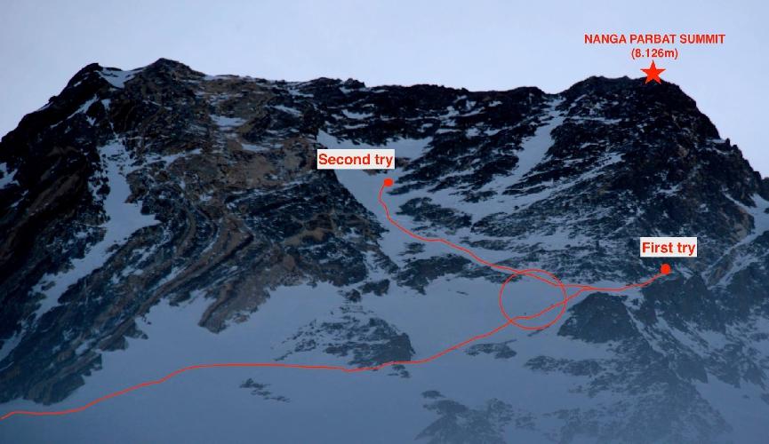 Попытки восхождения команды на Нангапрабта 13 марта 2015 года
