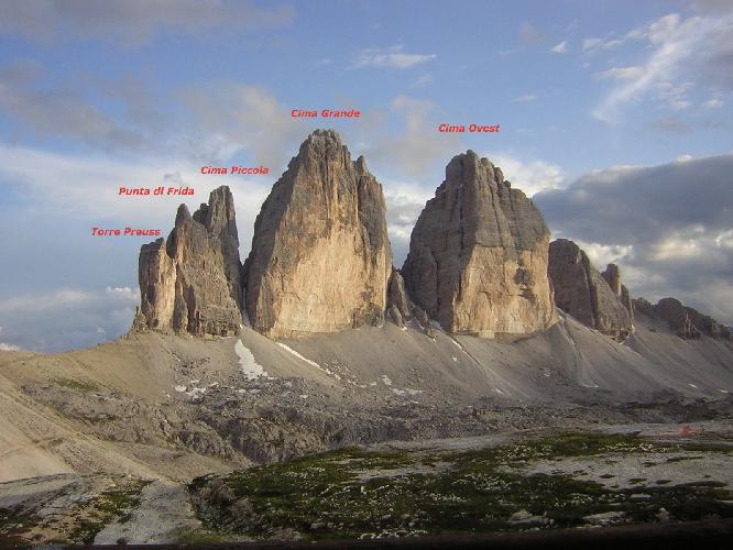 Tre Cime di Lavaredo с Северной стороны
