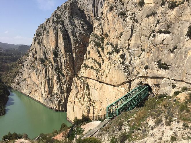 Королевская тропа (El Caminito del Rey),  Испания. состояние маршрута после реконструкции