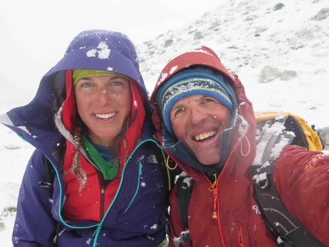 Симоне Моро и Тамара Лунгер в восхождении на Айленд Пик (Island Peak / Imja Tse) по новому маршруту