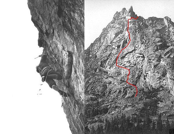 Януш Курчаб (Janusz Kurczab) на маршруте к вершине Młynarczyka, 1964 год