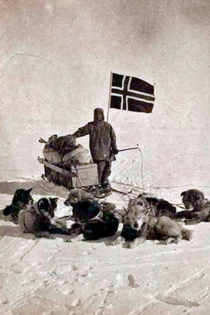 Руаль Амундсен во время экспедиции  на Южный полюс 1911 года
