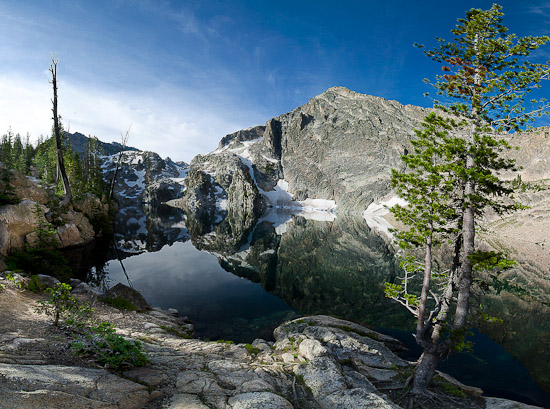 Пейзаж с озером Гоут в штате Айдахо