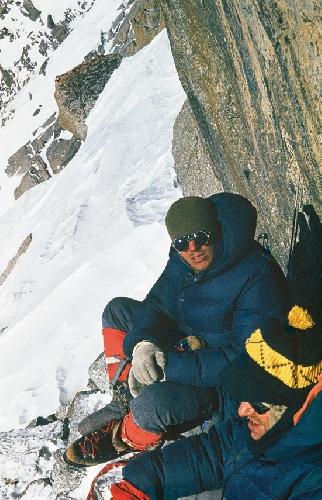 Зима 1971. Анджей Мрож (Andrzej Mróz) и Януш Курчаб (Janusz Kurczab) на пятом лагере на стопах Френей
