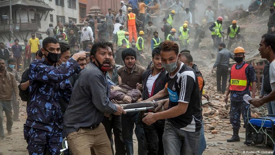 Катманду. После землетрясения 25 апреля 2015 года