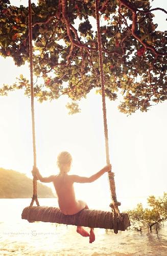 Именно так я представляю себе вечный рай. Остров Кондао, Вьетнам, (Амелии 6 лет)