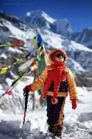 Базовый лагерь под Аннапурной (высота 4130 метров), Непал (Амелии 4 года)