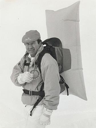 Петер Аушер со своим рюкзаком. Отлично видно кольцо боуден-троса