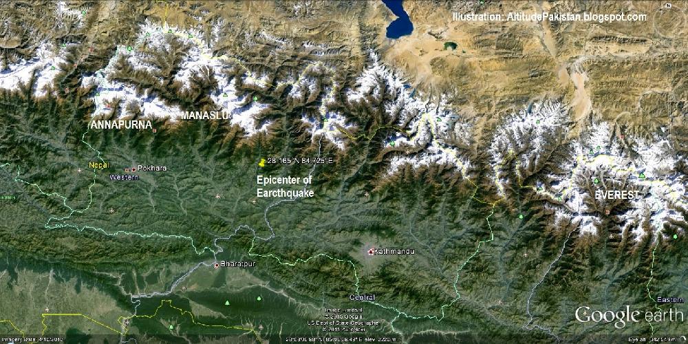 Эпицентр землетрясения в Непале