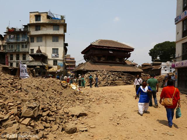 Дурбар после землетрясения