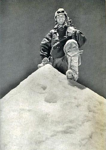 Фотошедевр: Жан Кузи на вершине. Фото Лионеля Тэррея