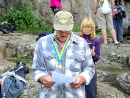 открытый чемпионат Украины по скалолазанию среди ветеранов на естественном рельефе (скорость, трудность)