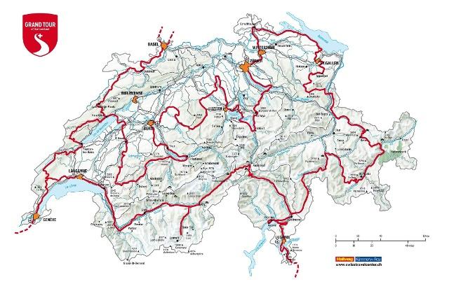 Официальная карта «Grand Tour of Switzerland».