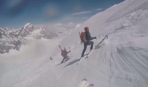 Спасение горнолыжника из ледовой трещины в Швейцарии