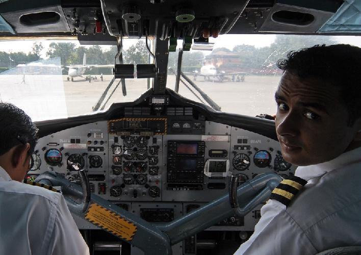 По прилете в аэропорт Катманду