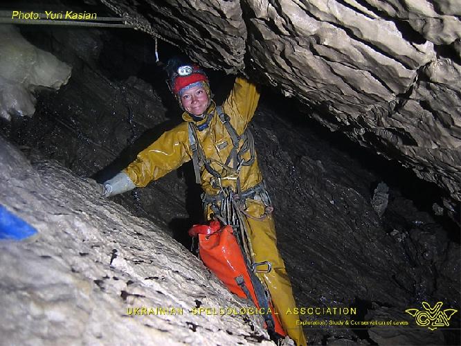 Фото ЮРИЙ КАСЬЯН. Крубера-Воронья. Основная ветка. глубина -1220 метров