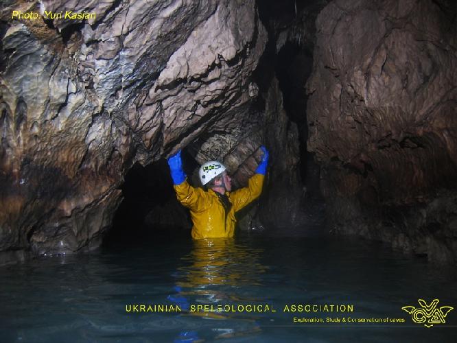 Фото ЮРИЙ КАСЬЯН. Крубера-Воронья. Основная ветка. глубина -1930 метров
