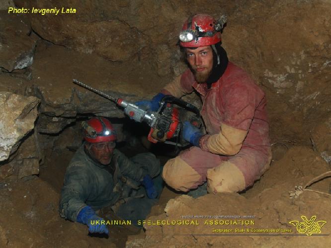 Фото ЕВГЕНИЙ ЛАТА. Крубера-Воронья. Ветка Некуйбышевская. Крайняя северная точка Галереи УСА. Есть предположение, что эта часть пещеры идет на соединение с пещерой Куйбышевской