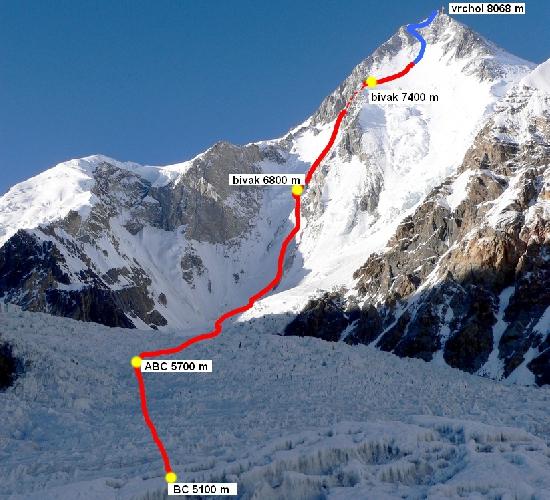 Гашербрум I. Неоконченный чешский маршрут 2009 года