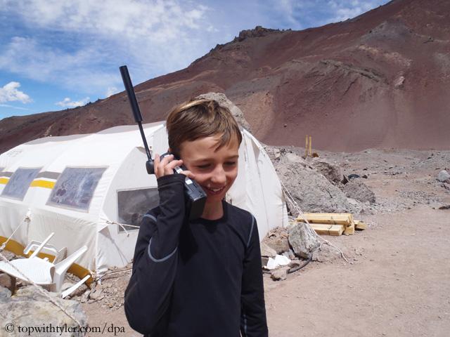 Тайлер Армстронг (Tyler Armstrong) у подножия Аконкагуа в 2013 году