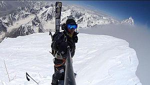 Анджей Баргель - ВИДЕО рекордного спуска на лыжах с восьмитысячника Броуд Пик