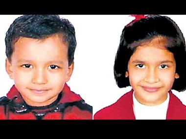 Кандарп Шарма (Kandarp Sharma) возрастом 5 лет и его сестра Ритвика Шарма (Ritvika Sharma) возрастом 8 лет из Индии