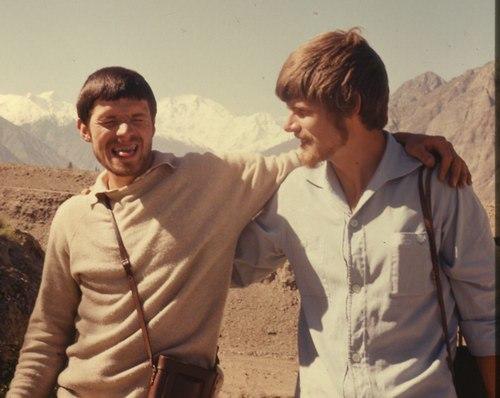 Гюнтер и Райнхольд Месснеры на пути к Нанга-Парбат. 1970