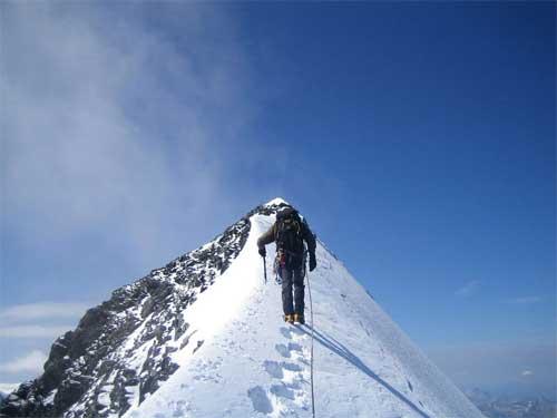Выход на вершину Эйгера по ребру Миттелеги