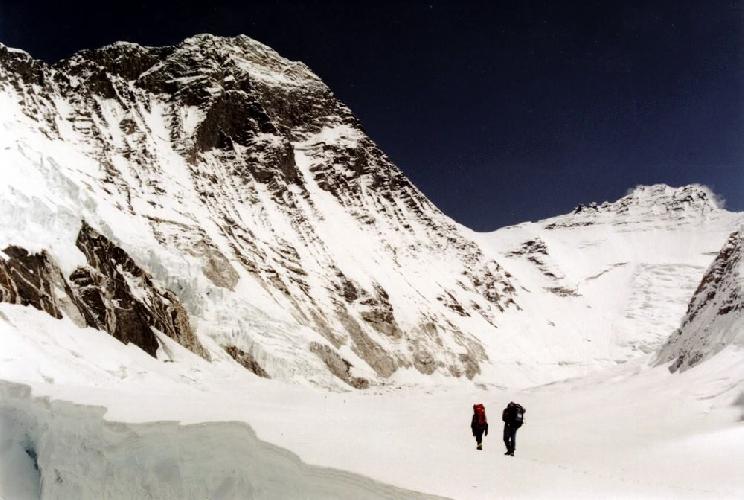Эверест-91. Плато над ледопадом Кхумбу, между первым и вторым лагерем.