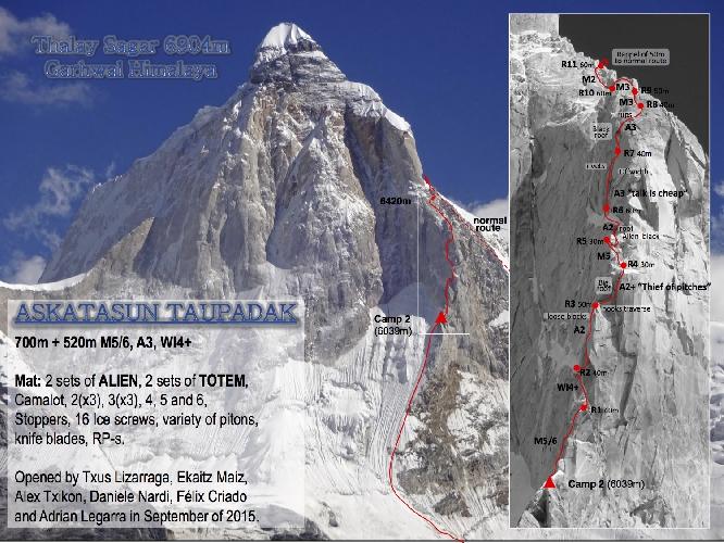 """маршрут """"Askatasun Taupadak """" на вершину Thalay Sagar в Индийских Гималаях"""