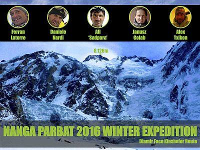 Международная команда собирается на Нангапарбат зимой 2015/2016 года