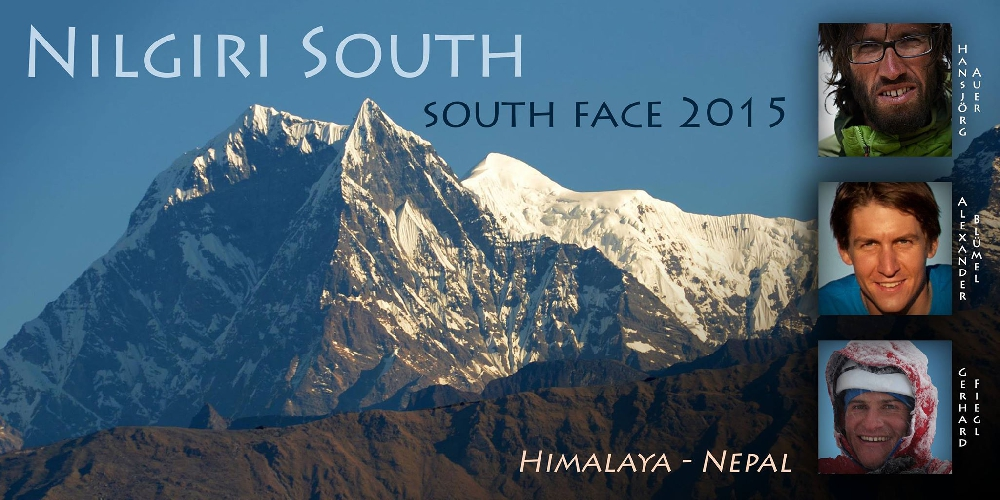 Austrian Expedition on South face of Nilgiri South