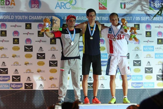 Павленко Константин - победитель молодежного Чемпионата мира по скалолазанию в дисциплине скорость