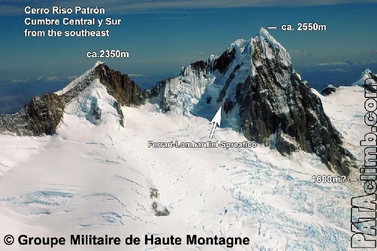 Ризо Патрон Центральная (Cerro Riso Patrón Central 2550 м) и Ризо Патрон Сур (Cerro Riso Patrón Sur 2350 м)
