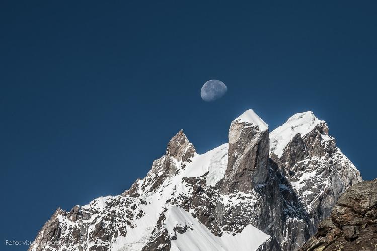 Вид из базового лагеря горы Те
