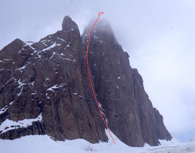 """маршрут """"Flight of the Zephyr"""" по Восточной стене пика Панфиловской дивизии (5300 метров)"""