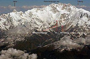 Украинские альпинисты открыли новый маршрут в Гималаях - на вершину горы Талунг (Talung) высотой 7349м