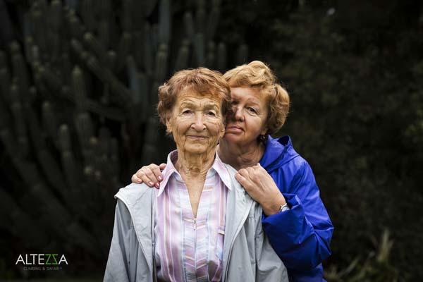 Ангела Воробьева (86 лет) с дочерью