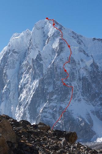 маршрут по Северной стене горы Гэйв Динг (Gave Ding) в Непале
